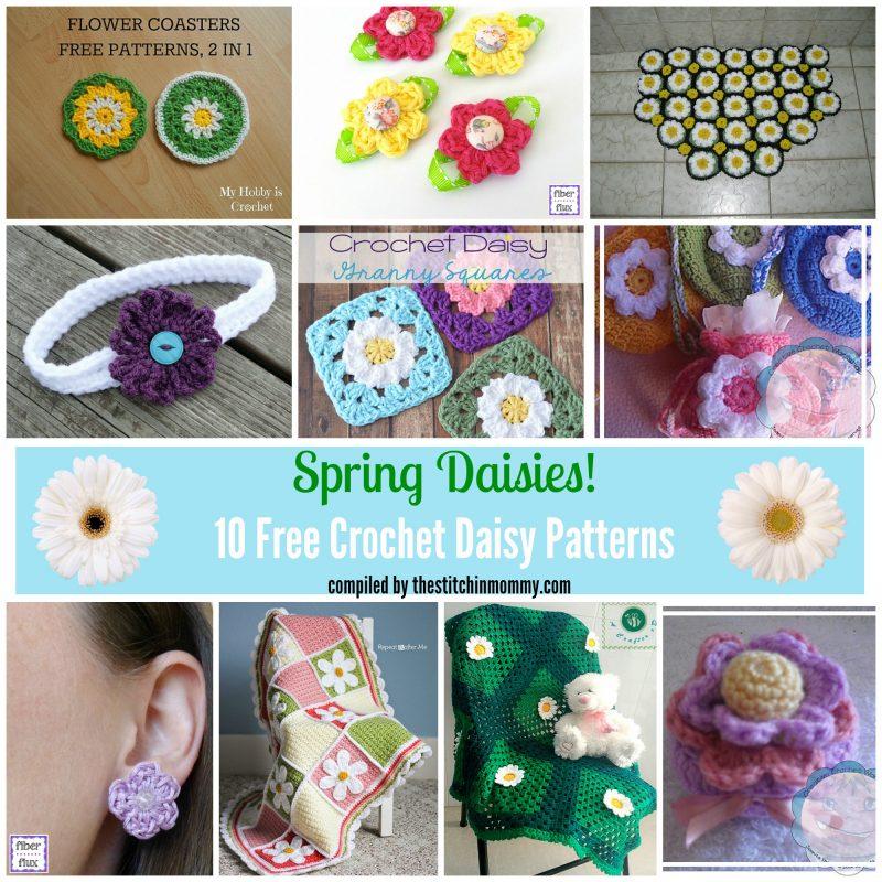 Spring Daisies! 10 Free Crochet Daisy Patterns