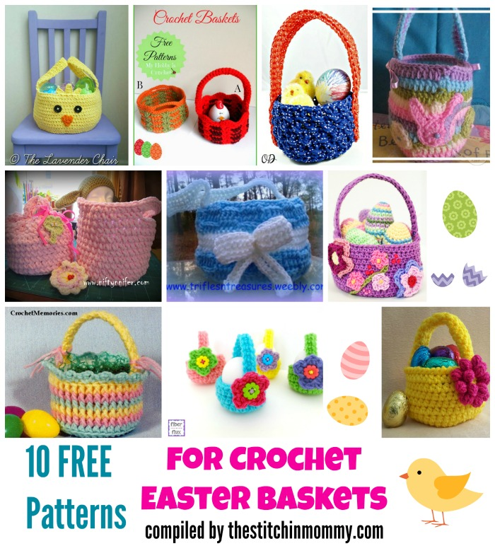 10 Free Patterns for Crochet Easter Baskets - The Stitchin ...