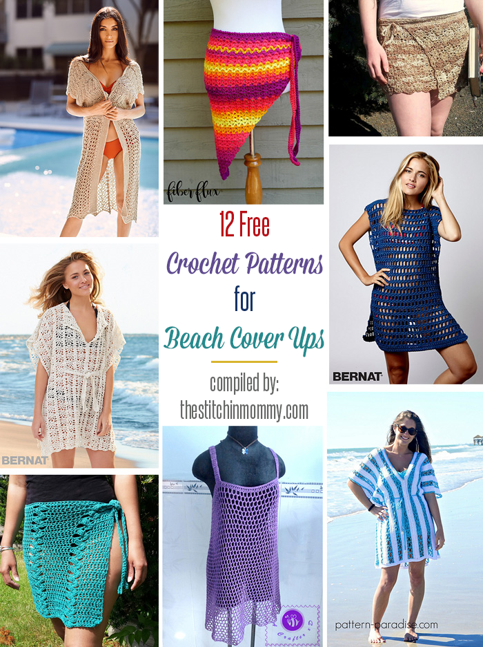 12 Free Crochet Patterns For Beach Cover Ups The Stitchin Mommy