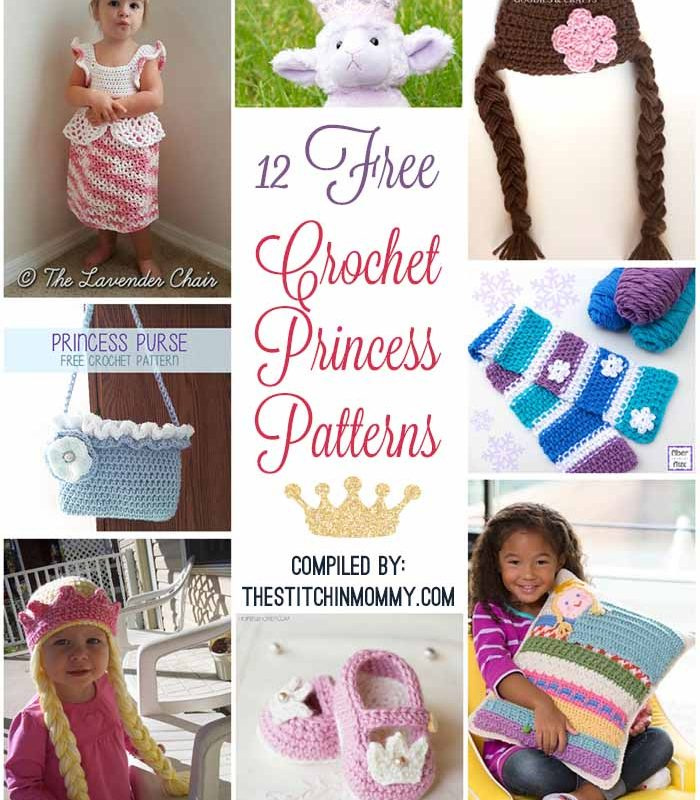 12 Free Crochet Princess Patterns
