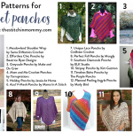 12 Free Patterns for Crochet Ponchos