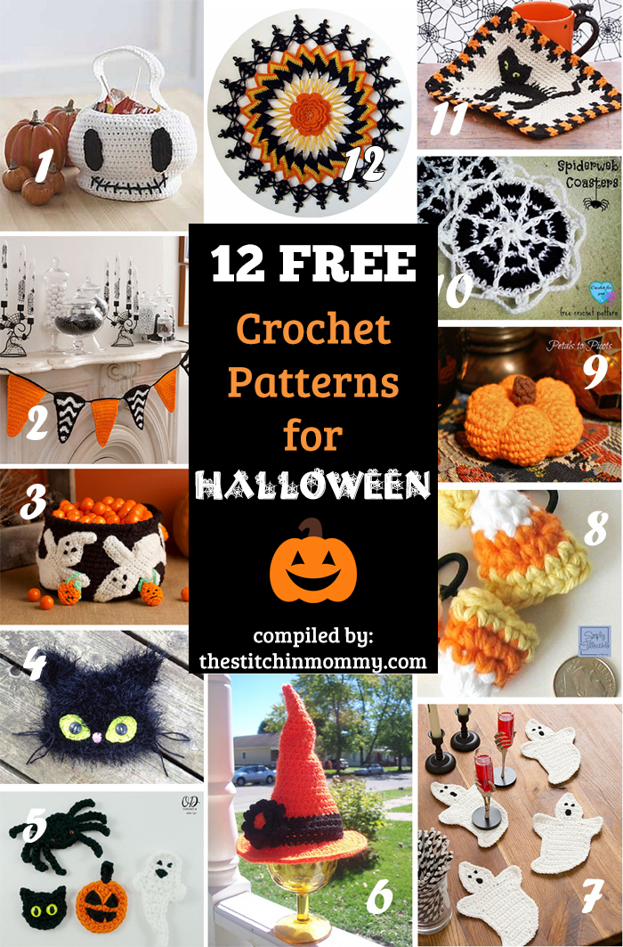 Free Crochet Patterns For Halloween : 12 Free Halloween-Themed Crochet Patterns - The Stitchin Mommy