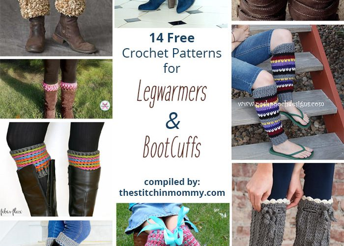 14 Free Crochet Patterns for Legwarmers and Boot Cuffs