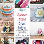 14 Free Summer Decor Crochet Patterns