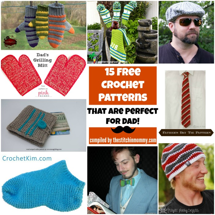15 Free Crochet Patterns That Are Perfect for Dad!