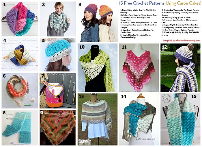 15 Free Crochet Patterns Using Caron Cakes The Stitchin Mommy