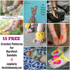 15 Free Crochet Patterns for Barefoot Sandals