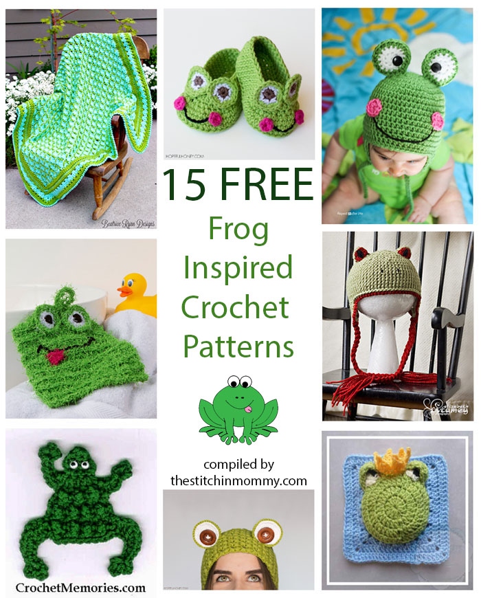 15 free frog inspired crochet patterns the stitchin mommy. Black Bedroom Furniture Sets. Home Design Ideas