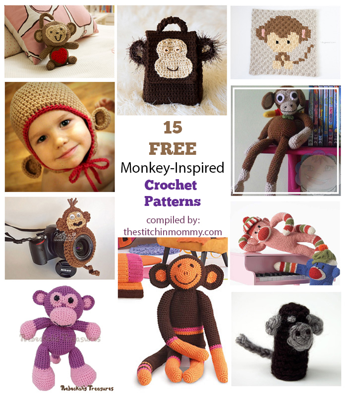 15 Free Adorable Monkey-Inspired Crochet Patterns