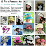 15 Free Patterns for Crochet Sun Hats