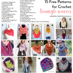 15 Free Patterns for Crochet Triangle Scarves