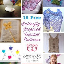 16 Free Butterfly-Inspired Crochet Patterns