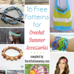 16 Free Patterns for Crochet Summer Accessories