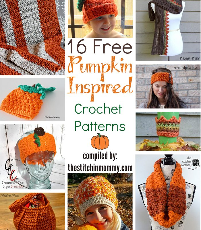 16 Free Pumpkin-Inspired Crochet Patterns