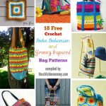 18 Free Crochet Boho, Bohemian, and Groovy Inspired Bag Patterns