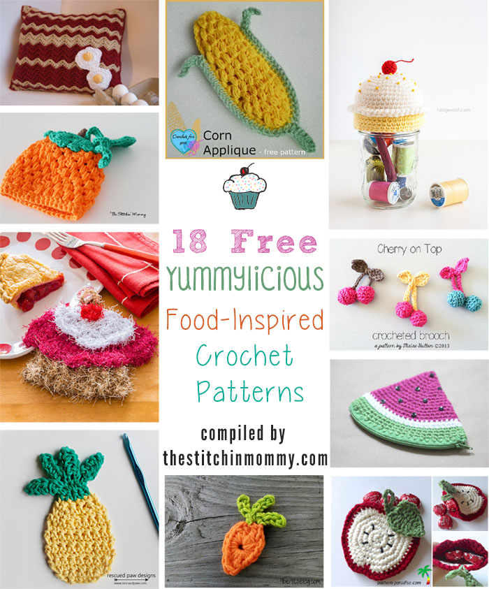 Crochet Patterns Free Food : 18 Free Yummylicious Food-Inspired Crochet Patterns - The ...