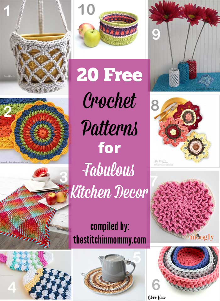Free Vintage Kitchen Crochet Patterns : 20 Free Crochet Patterns for Fabulous Kitchen Decor - The ...