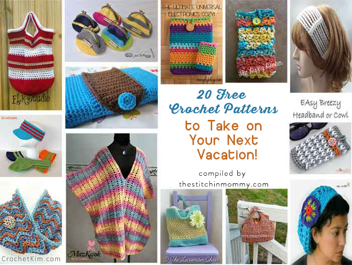 20 Free Crochet Patterns to Take on Your Next Vacation!