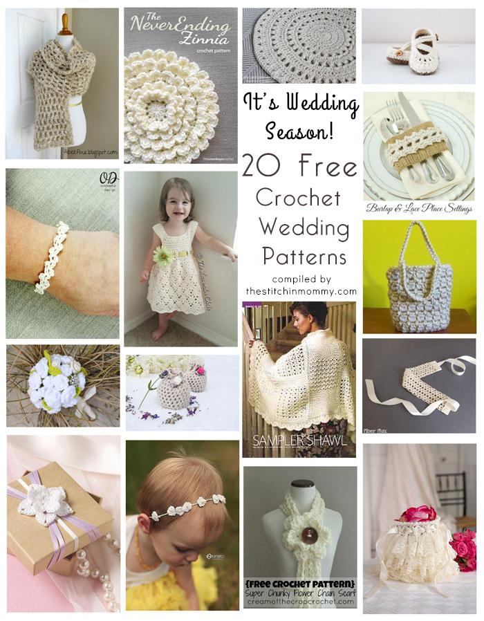 Nice Free Crochet Wedding Garter Pattern Photos Easy Scarf