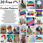 20 Free Rainbow-Inspired Crochet Patterns