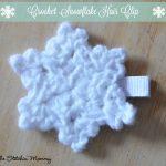 Crochet Snowflake Hair Clip – Free Pattern