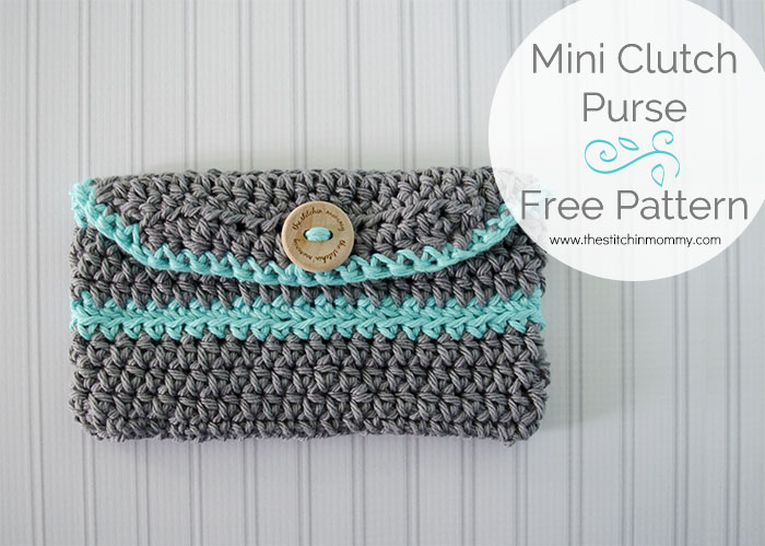 Crochet Mini Clutch Purse - Free Pattern www.thestitchinmommy.com