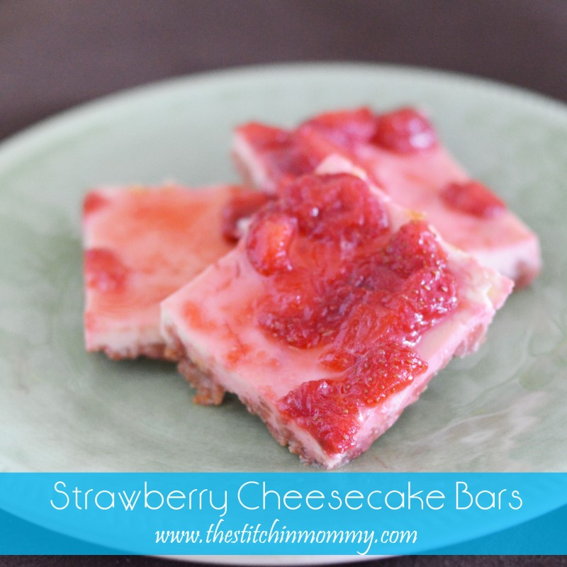 Strawberry Lemon Cheesecake Bars Recipe — Dishmaps