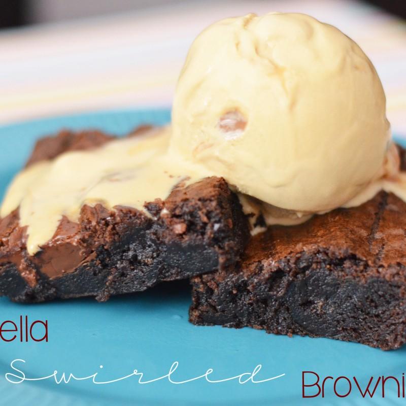 Nutella Swirled Brownies