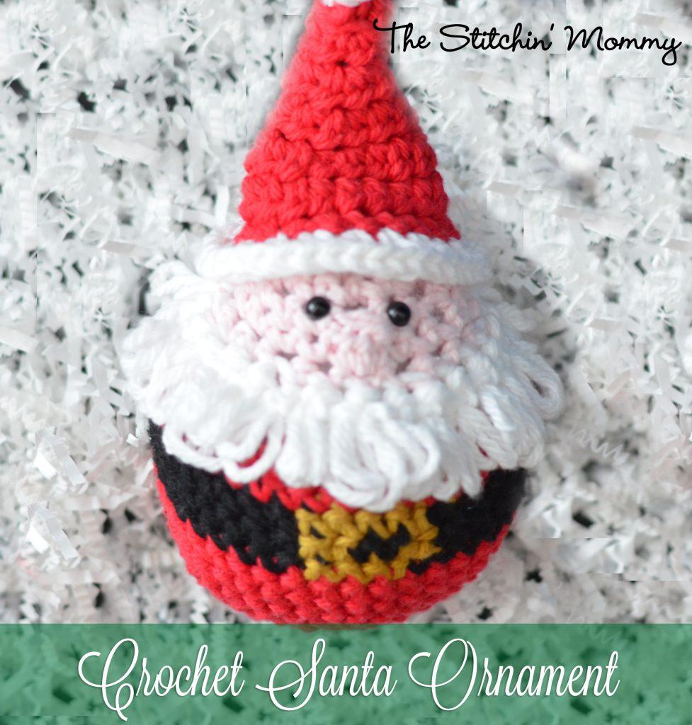 Crochet Santa Ornament - Free Pattern - The Stitchin Mommy