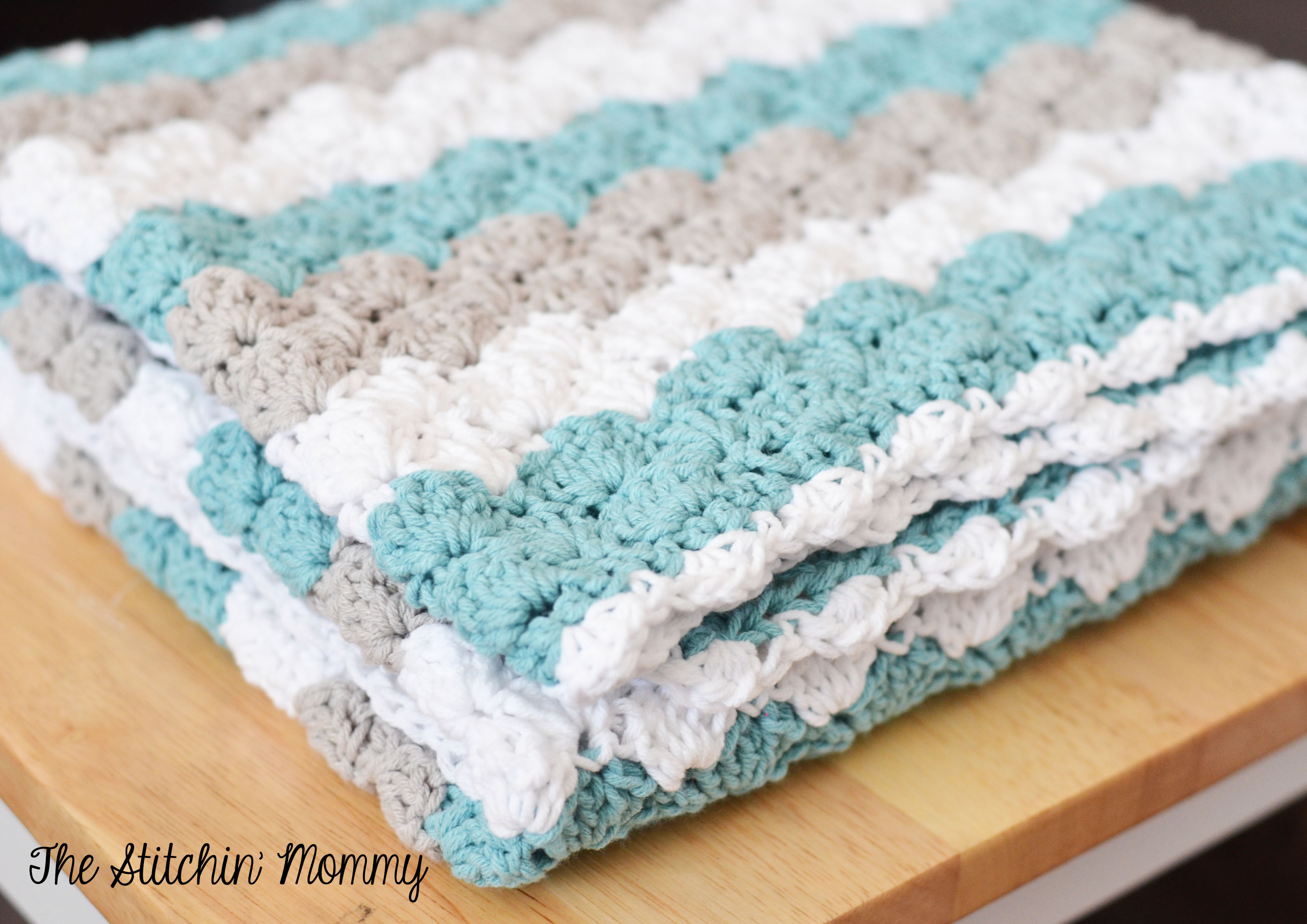 Crocheting Baby Blanket : Crochet Shell Stitch Baby Blanket by The Stitchin Mommy www ...
