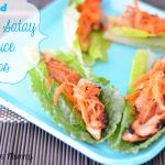 #ad Chicken Satay Lettuce Cups (Fresh, Easy and Ready in Minutes) #JustAddTyson