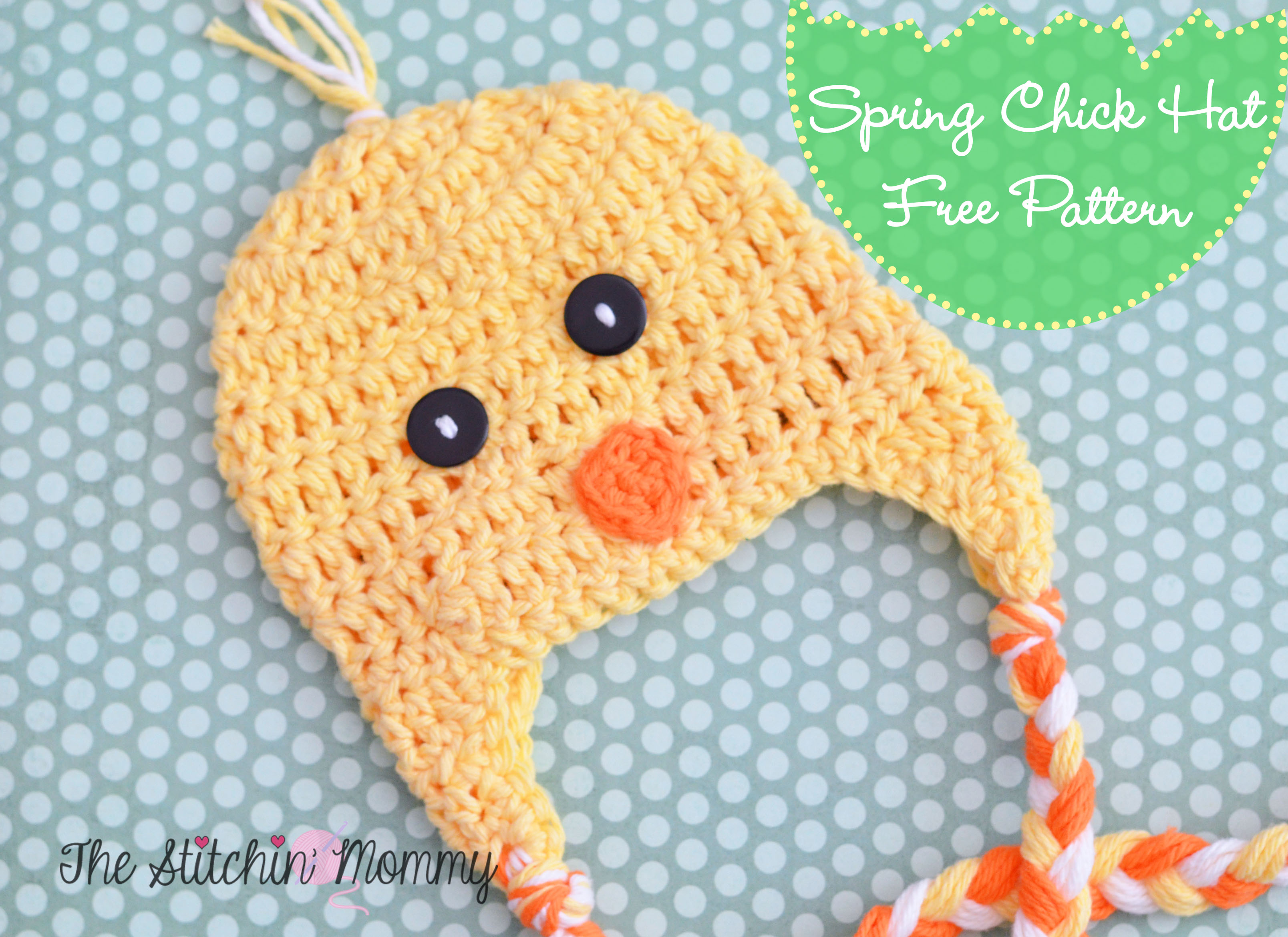 Spring Chick Hat - Free Crochet Pattern - The Stitchin Mommy