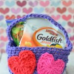 Easy Crochet Valentine's Day Basket