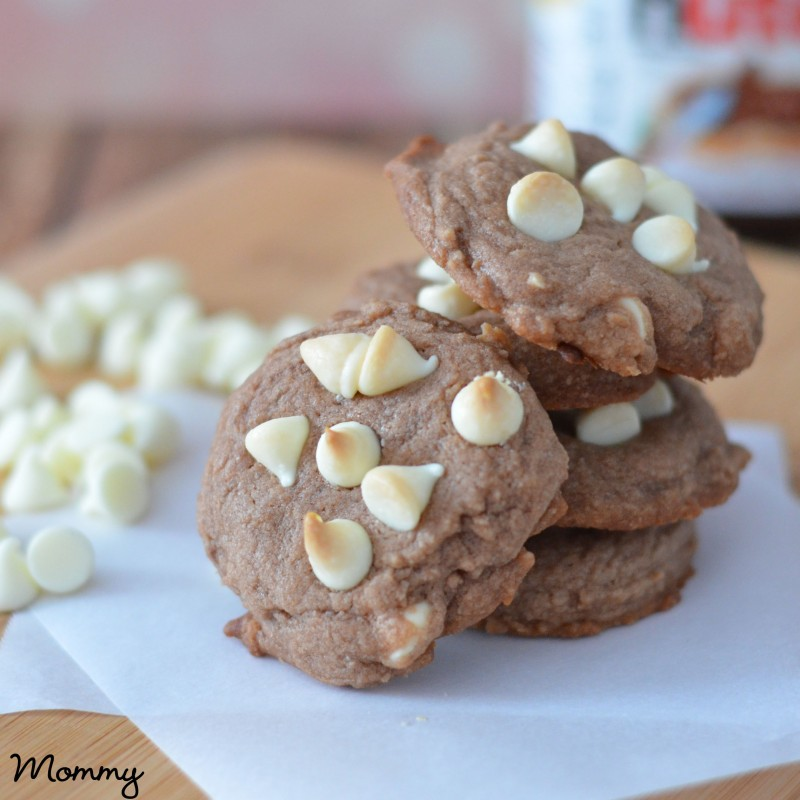 White Chocolate Chip Nutella Cookies