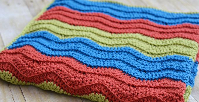 Easy Crochet Ripple Blanket