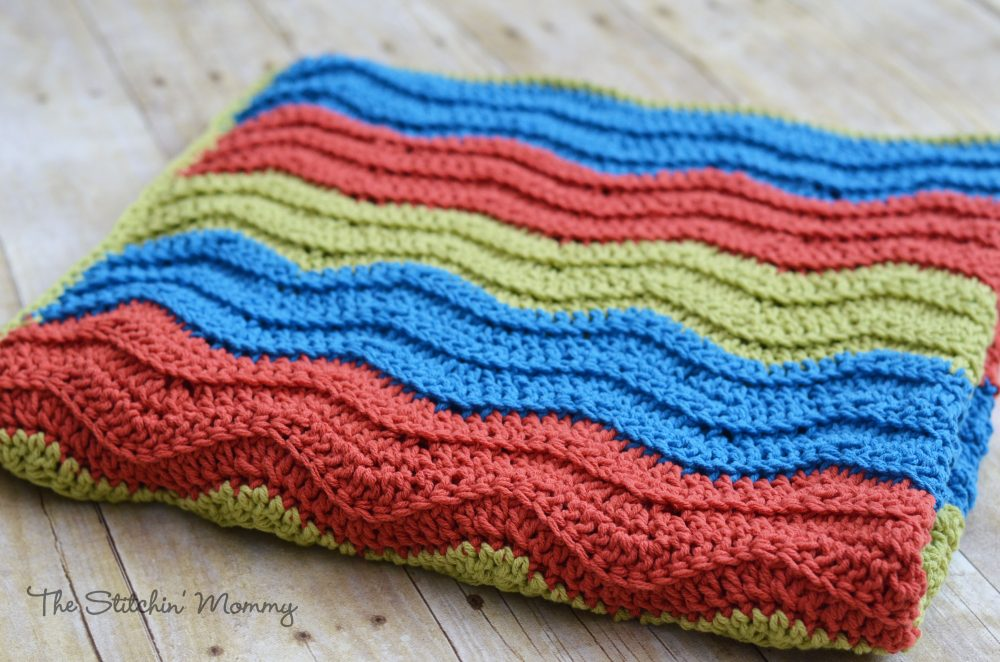 Easy Crochet Ripple Blanket The Stitchin Mommy