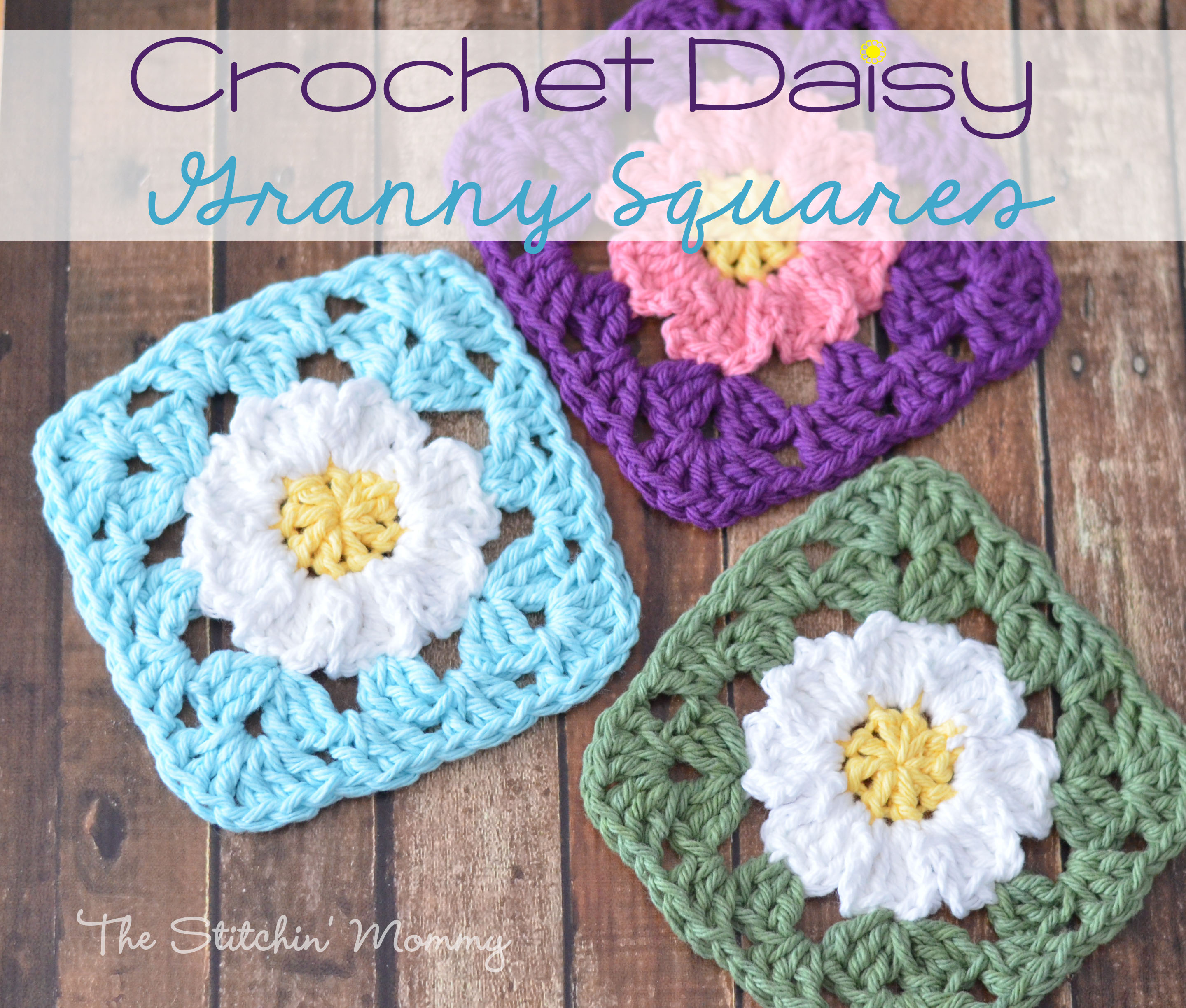 Free Crochet Granny Square Clothing Patterns : Crochet Daisy Granny Squares - The Stitchin Mommy