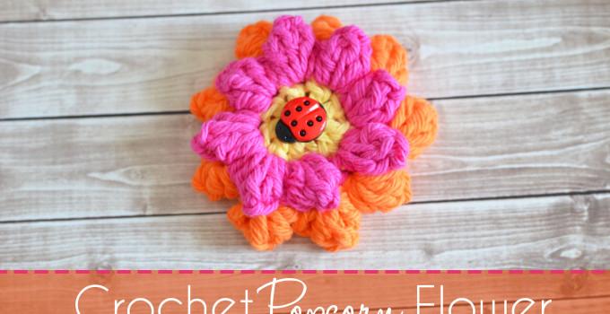 Crochet Popcorn Flower – Free Pattern