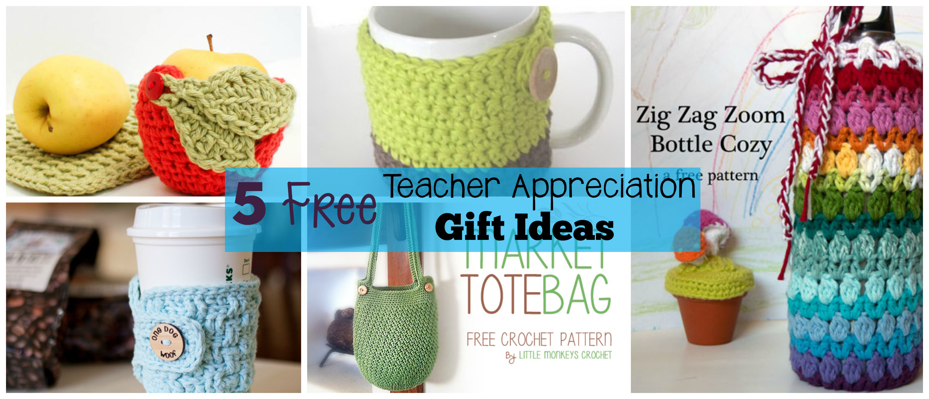 Free Crochet Patterns Gift Ideas : 5 Free Crochet Teacher Appreciation Gift Ideas - The ...