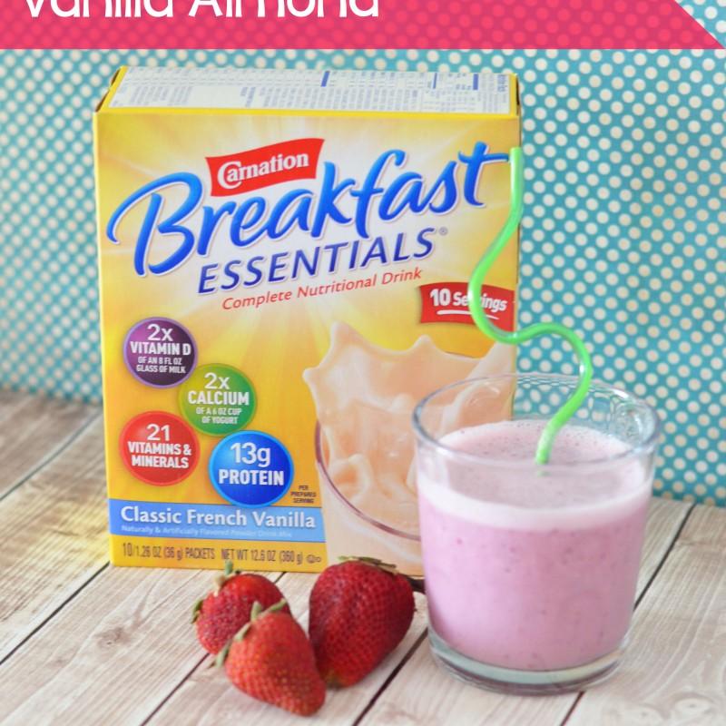 Strawberry Vanilla Almond Smoothie – Carnation #BreakfastEssentials