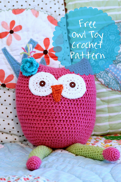 Free Crochet Pattern For Owl Toy : Eleven Free Crochet Toy and Lovey Patterns