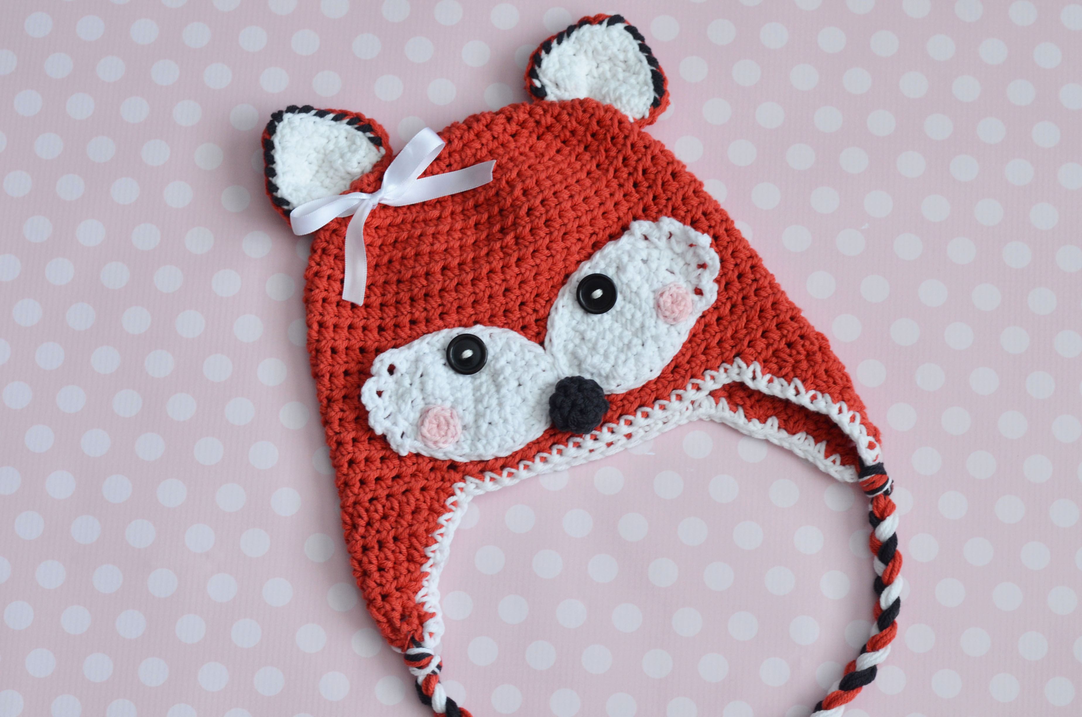 Crochet Fox Hat All Sizes Available For Purchase