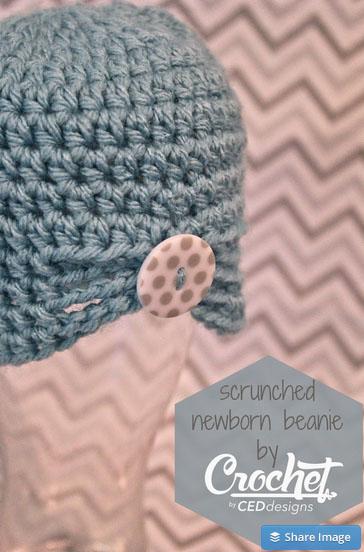 Scrunched Newborn Beanie