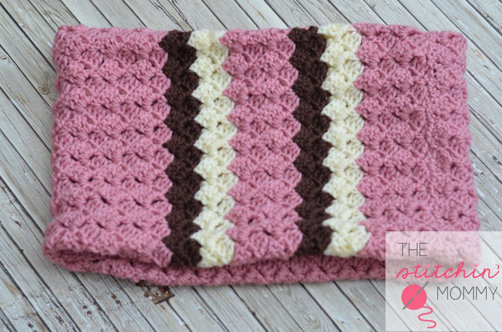 154 Crochet Wave Patterns and Neapolitan Striped Cowl