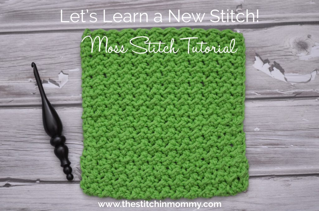 Crochet Stitches Moss Stitch : Learn a New Crochet Stitch, Moss Stitch Tutorial and Afghan Square ...