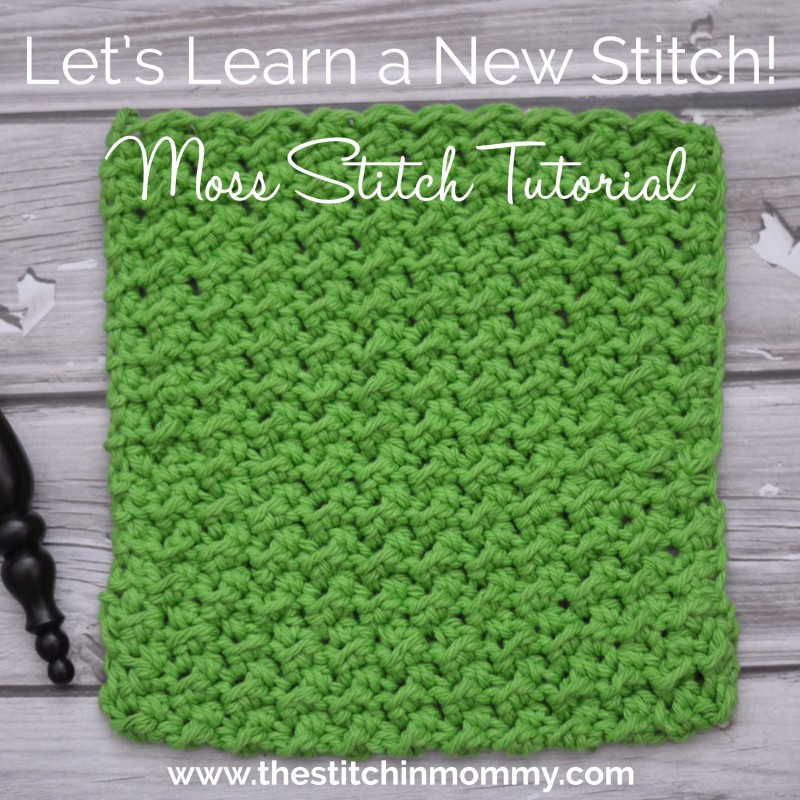 Moss Stitch Tutorial and Afghan Square Pattern