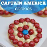 M&Ms Captain America Cookies