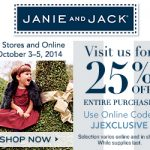 Janie and Jack Friends and Family Sale