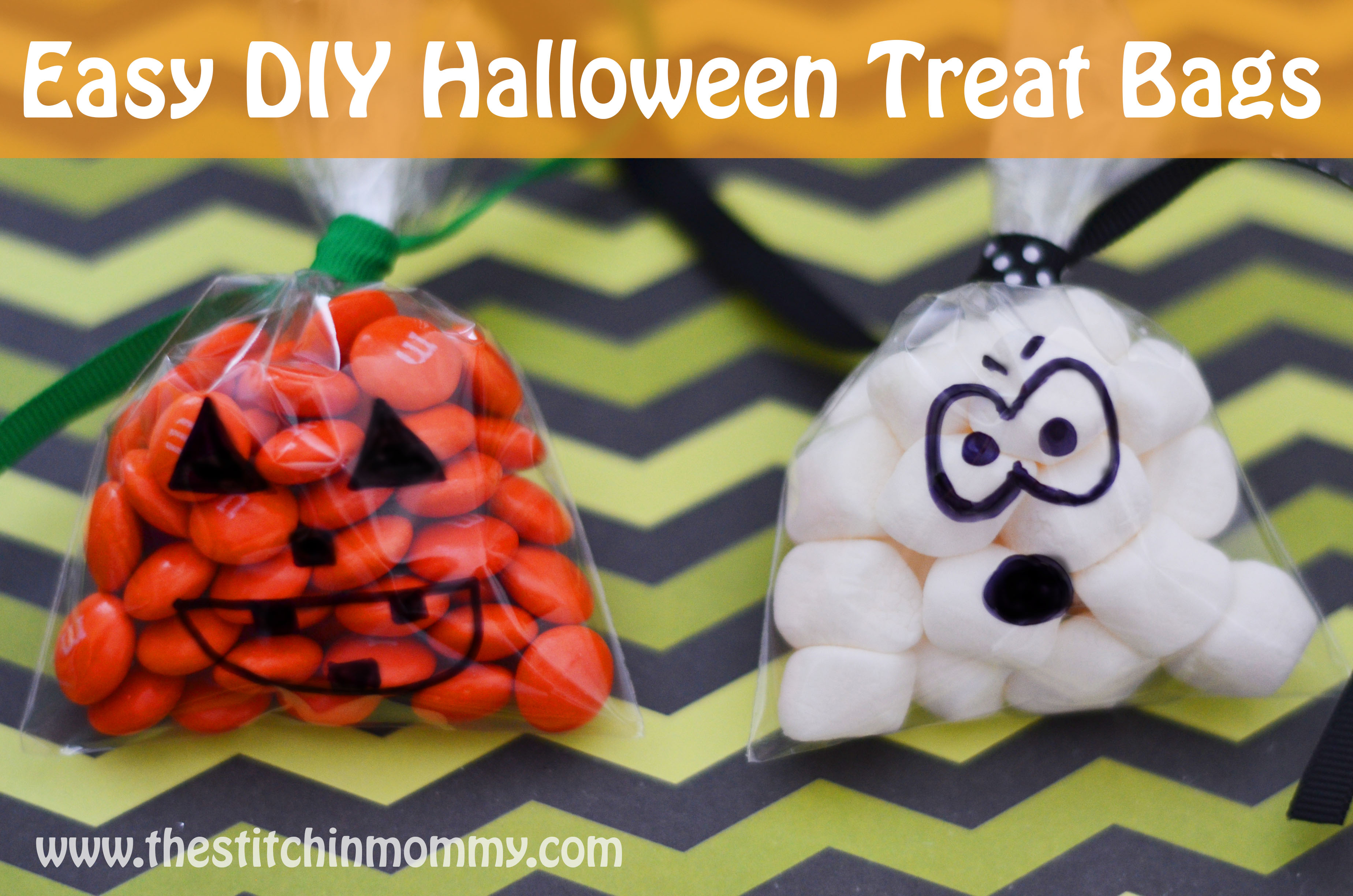 Easy DIY Halloween Treat Bags from The Stitchin' Mommy - GYCT Designs