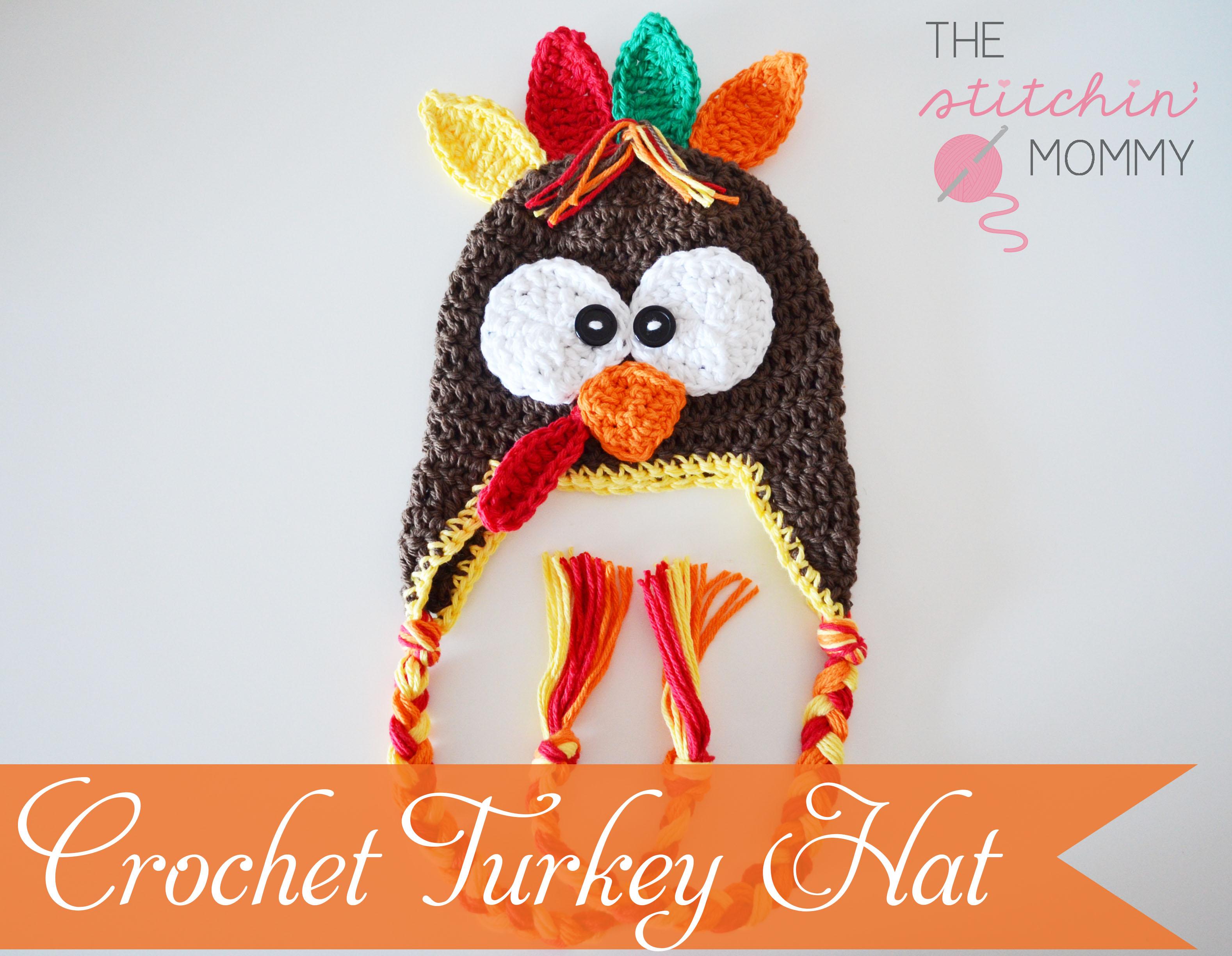 Crochet Turkey Hat - Free Pattern - The Stitchin Mommy